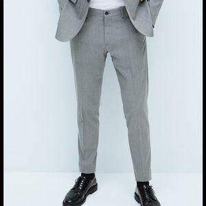 ZARA Chintz Comfort suit trousers pants skinny